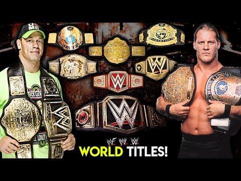 Ranking WWE World Title Belt Designs From WORST To BEST!