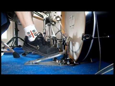 Pearl P1002  Eliminator Double Pedal  Speed Test