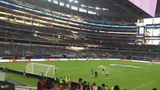 The first time going to the cowboys stadium an watch fcb vs as roma