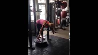 suspended trx fallout on bosu ball
