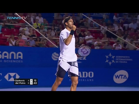Epic Del Potro v Djokovic rally in Acapulco!