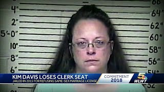 Kentucky clerk who denied same-sex marriage licenses loses re-election