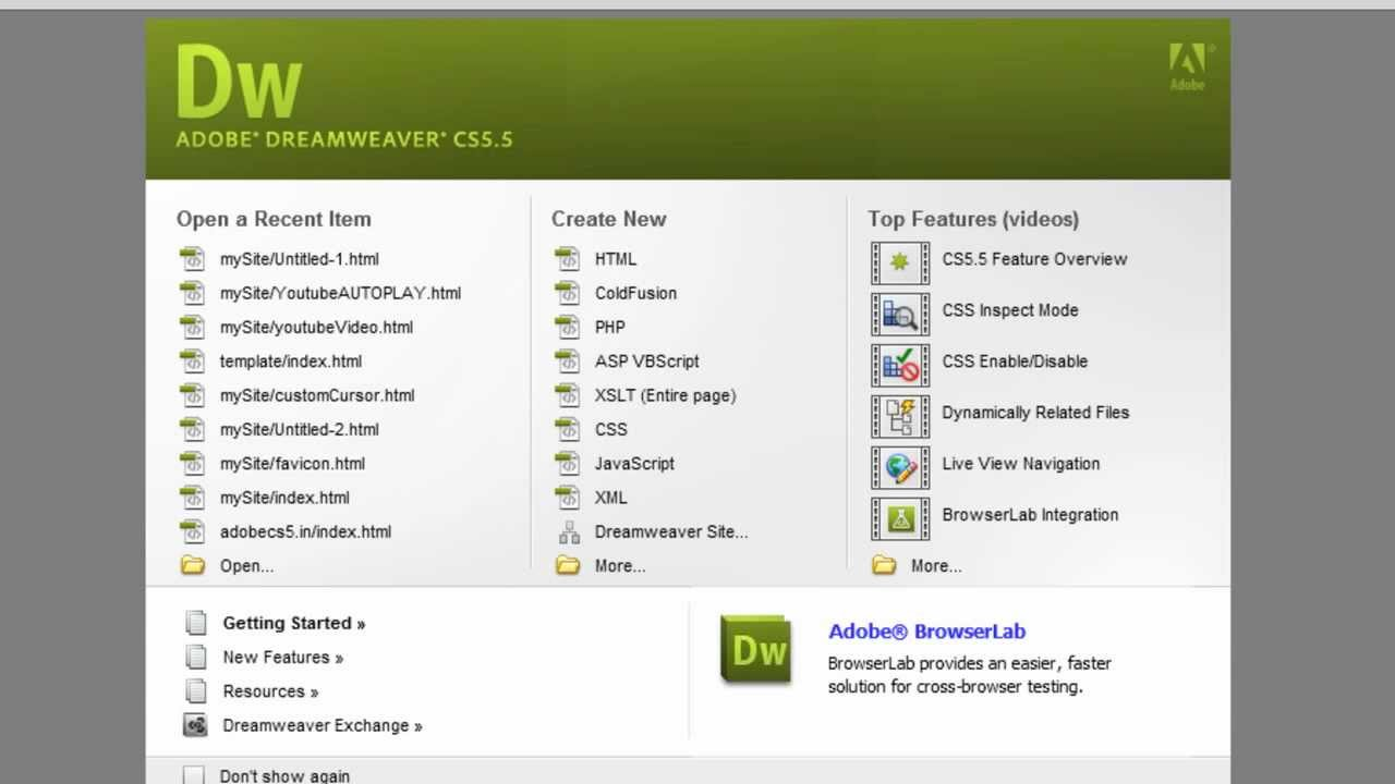 Expertrating dreamweaver tutorial dreamweaver interface.