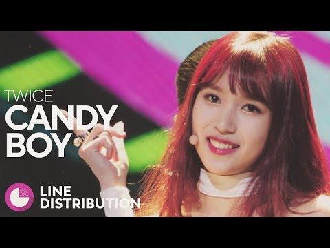 TWICE - Candy Boy (Line Distribution)