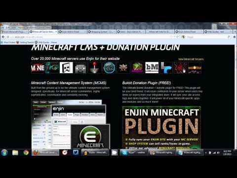 Enjin Minecraft Websites & Donation Plugin