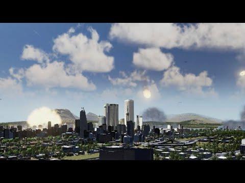 Cities: Skylines  | Multiple Meteors Hit Fictional LA |