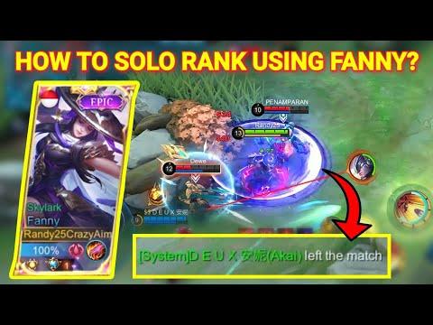 SOLO RANK MEMANG BERAT!! RANDY25 FANNY SERIOUS MODE   Mobile Legends