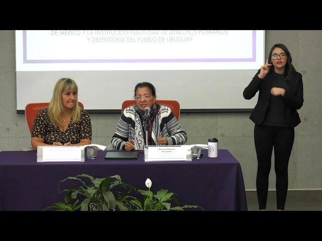 Sesión de preguntas  y Respuestas en Firma de Convenio con la INDDHH Uruguay