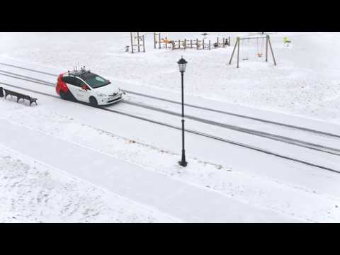 Yandex.Taxi self-driving car — first winter test