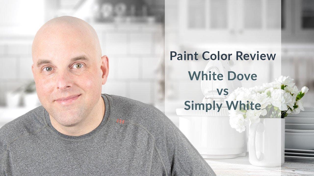 Benjamin Moore White Dove Vs Simply White Color Review Youtube