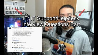 IT: IT Support/Helpdesk Interview Questions Part 11