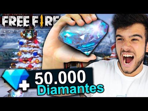GASTEI 50 MIL DIAMANTES NO FREE FIRE E LIBEREI TUDO!
