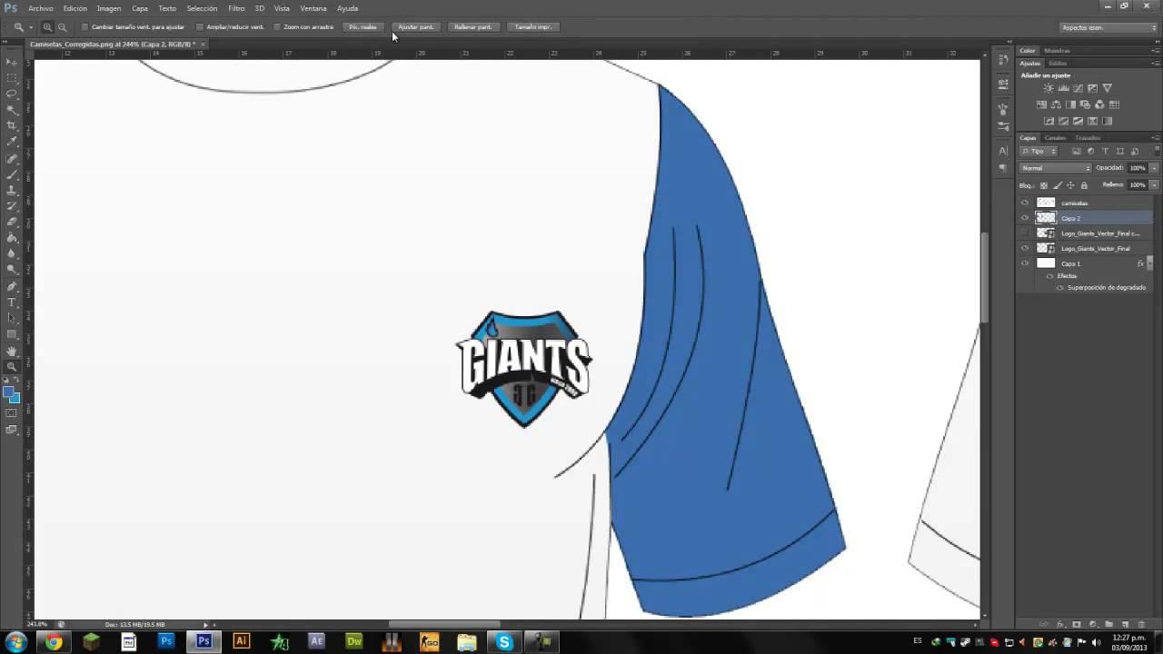 Tutorial Photoshop - Template de Camisetas e-Sports! - YouTube