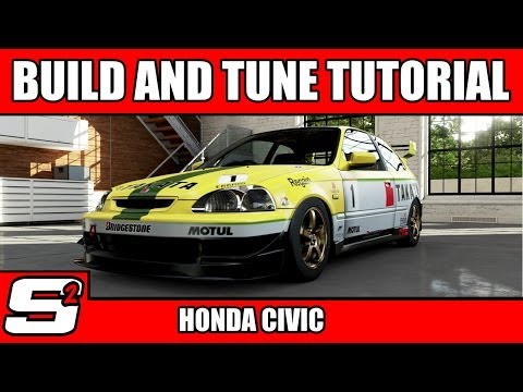 Forza 5 Build and Tuning Tutorial Honda Civic Type R C Class.