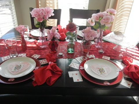 DIY: Valentine's Day Tablescape with items from Dollar Tree!!