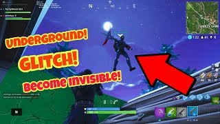 Fortnite Battle Royale Glitch (Saison 4) Underground Devenir invisible PS4/Xbox one 2018