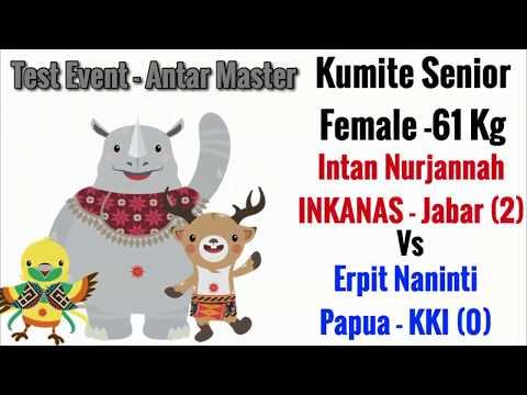 Intan Nurjannah (INKANAS/Jabar) Vs Erpit (Papua/KKI) Kejuaraan Karate Antar Master 2017