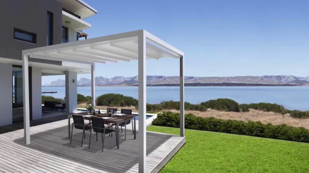 pergola sunrain q de youtube. Black Bedroom Furniture Sets. Home Design Ideas