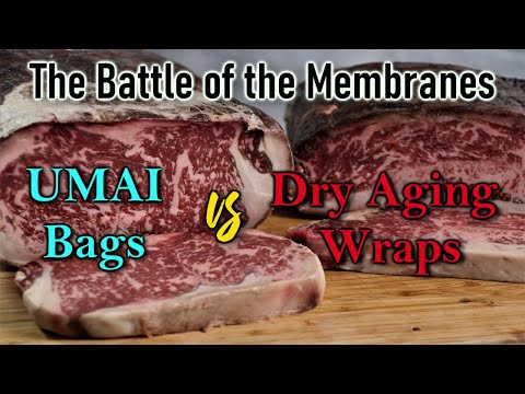 Umai Bags vs  Dry Aging Steak Wraps: The Battle of the Membranes