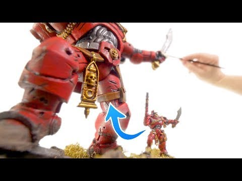Sculpting and painting a GIANT Warhammer 40k Space Marine!