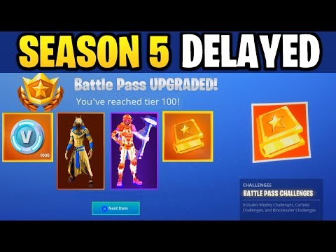 SEASON 5 got DELAYED... (Fortnite: Battle Royale)