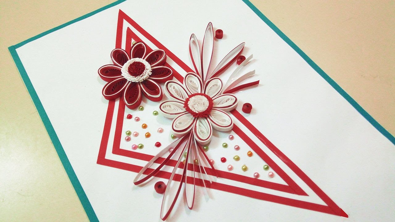 paper quilling designs how to make a birthday card paper quilling art - Birthday Card Art