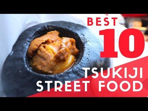 Tokyo Street Food | TOP 10 At Tsukiji Fish Market