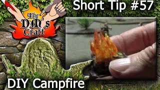 DIY CAMPFIRE for miniature D&D night encounters (DM