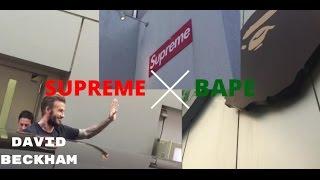 DAVID BECKHAM x SUPREME x BAPE IN TOKYO (SHIBUYA)