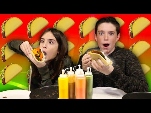 PANCAKE TACOS!! - Pancake Art Challenge