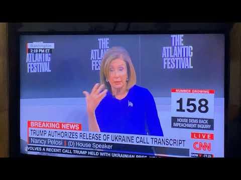 Nancy Pelosi Says Trump Doesn't Follow Constitution At The Atlantic Festival On CNN