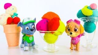 Щенячий патруль новые серии Пластилин Плей До МОРОЖЕНОЕ Развивающие мультики для детей Игрушки