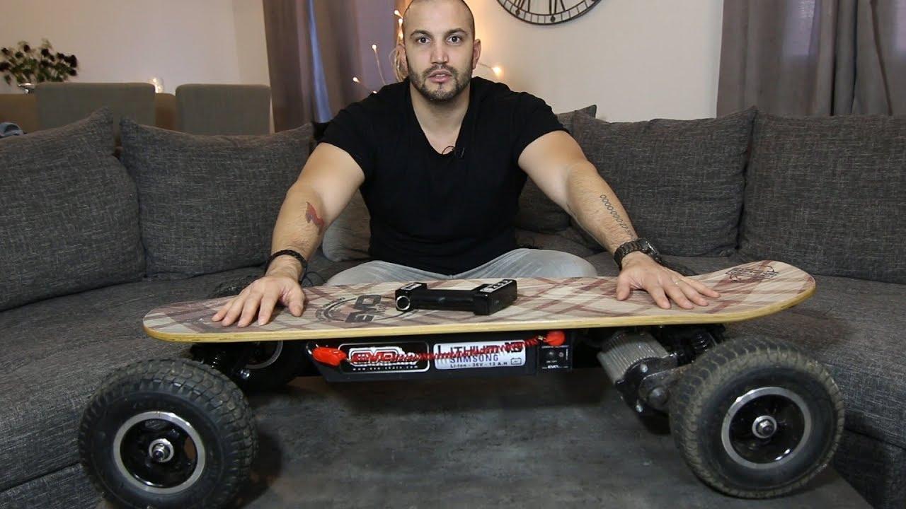 un skate electrique tout terrain qui monte a 40km h. Black Bedroom Furniture Sets. Home Design Ideas