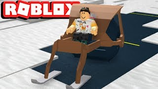 [ SNOWMOBILE TRICKS ] ROBLOX SNOW SHOVELING SIMULATOR