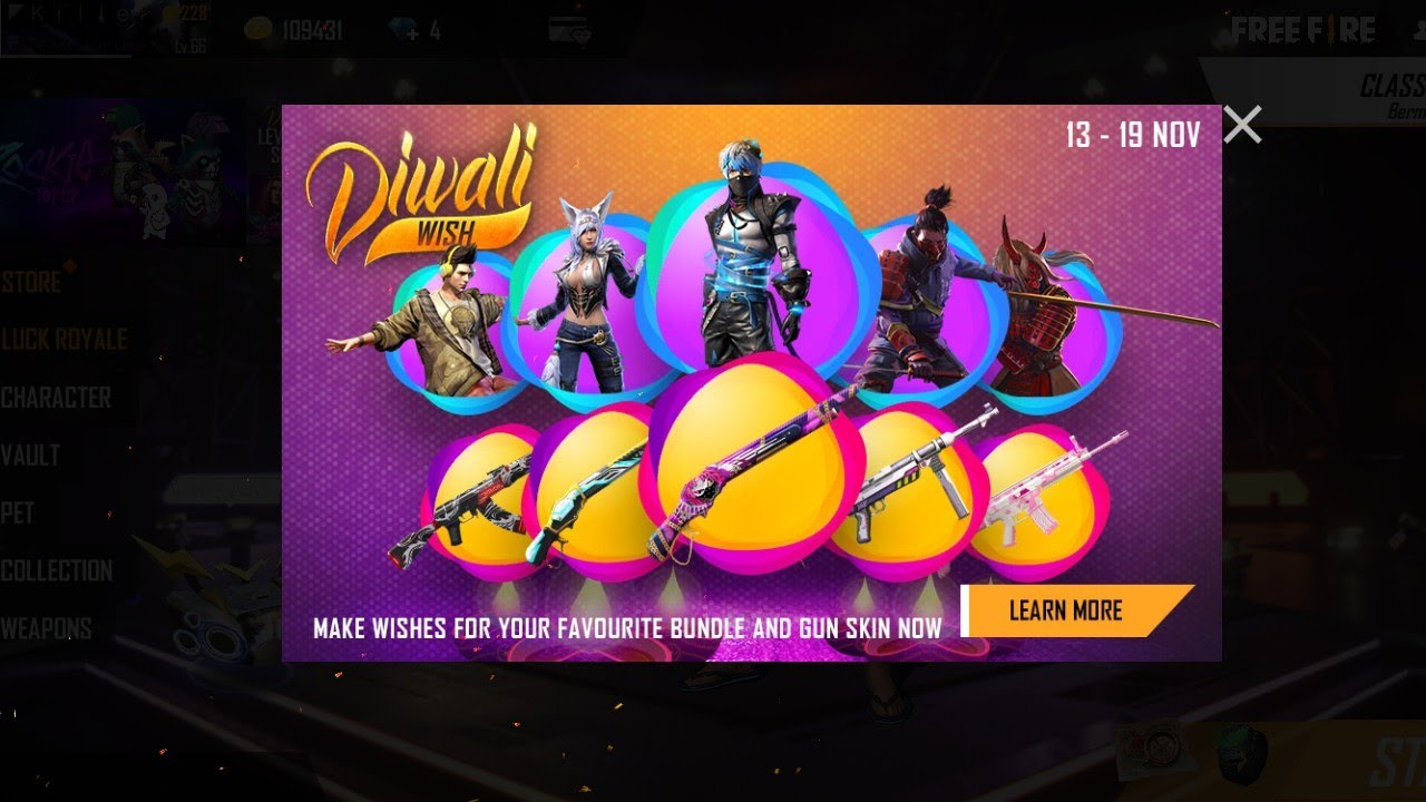 #Freefire_new_event.#DIWALI_WISH.and op event