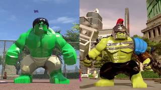 LEGO Marvel Super Heroes Evolution of Avengers Characters