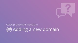adding a new domain to Cloudflare