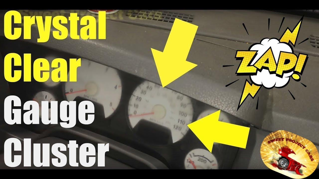 How To Remove Scratches In Gauge Cluster Lenses Youtube 1964 Chevy Truck