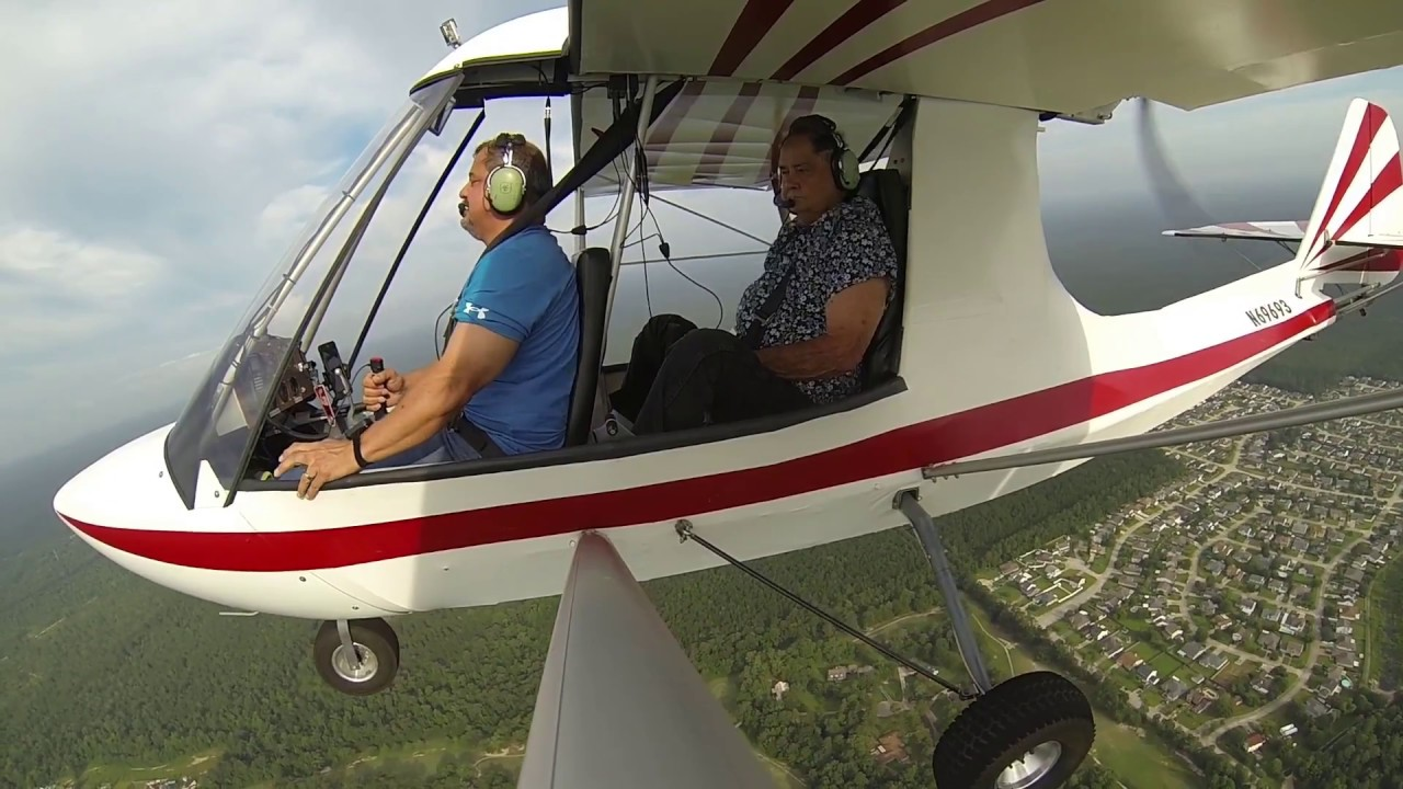 Flying Ultralights Excalibur Aircraft: Dad's First Flight - Youtube