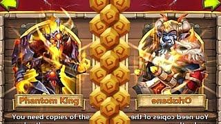 Castle Clash Double Evolving Phantom King + Evolving Orksbane