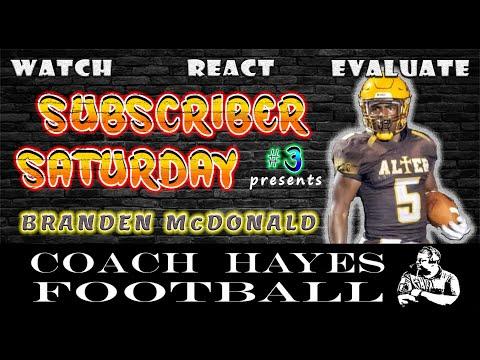 Ep. #3 - Branden McDonald Highlights - #SubscriberSaturday - Archbishop Alter High School (WRE)
