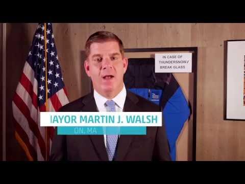 Boston Mayor Marty Walsh Congratulates Jim on His 30th Anniversary