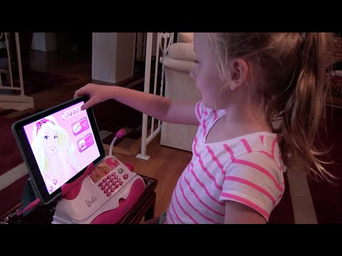 Kids Eat and Review Candy - Candy shopping with the Barbie Cash Register App!