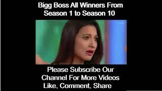 Bigg Boss All Winners Announcement From Season 1 to Season 10