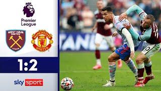 Ronaldo trifft wieder!   West Ham United - Manchester United 1:2   Highlights - Premier League 21/22