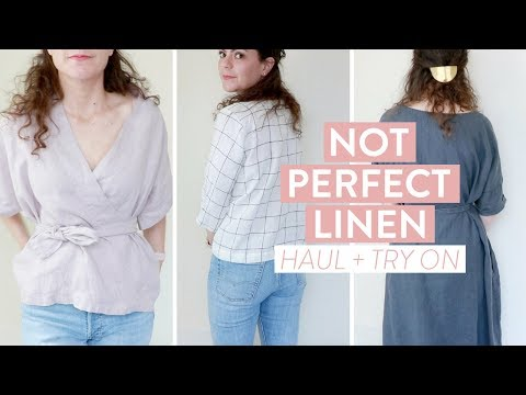 Not Perfect Linen HAUL + TRY ON | Summer Wardrobe, Table Linens and Overall Review