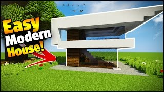 Minecraft Easy Modern House Tutorial Best House Tutorial