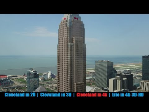 Cleveland Terminal Tower observation deck view in 4k