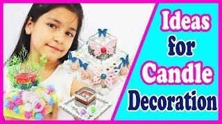 3 Candle Holder for Diwali Decoration ❤️🕯️ | DIY Diya Decoration (2018)