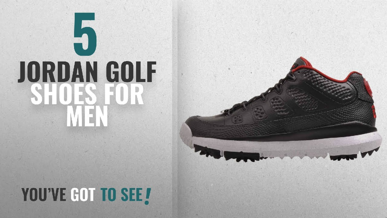 4a552a80e3ce38 Top 10 Jordan Golf Shoes  2018    Jordan Men s Air IX Retro Golf ...
